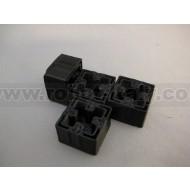 Makerbeam - 3D Printed End Caps Black for MakerBeam (4pcs)