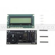 AXE033Y - Serial OLED module 16x2 (RTCC ready)