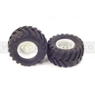 120 mm diam. Off-Road Tires (pair)