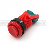 Arcade Push Button 35mm - concave - red