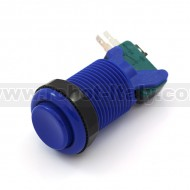 Arcade Push Button 35mm - concave - blue
