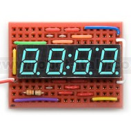 7 Segment led display - 4 digits - CA - blue
