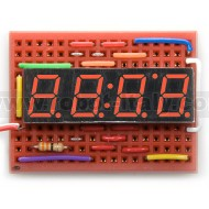 7 Segment led display - 4 digits - CA - red
