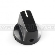 Black Knob 15x19mm for 6mm shaft