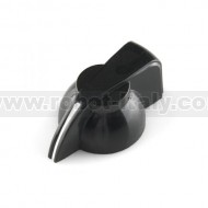 "Black Chicken Head Knob for 0.25"" shaft"