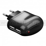 Power Supply 220VAC in - 2xUSB out - 2.1A