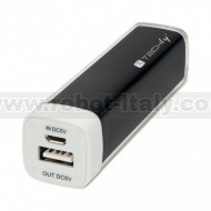 Power Bank 2200 mAh USB Nero
