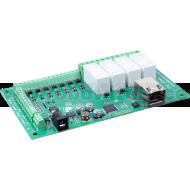 ETH484 - 4 Relays at 16A, 8 Digital IO and 4 Analogue Inputs