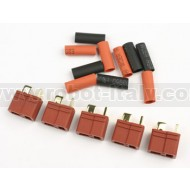 FullPower - DEANS Feale Plug + heat-shrink tube (5 pcs)
