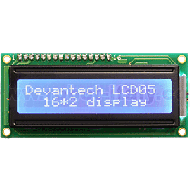 LCD05-16x2-B Serial/I2C Display 16x2 - Blue Background