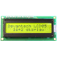 LCD05-16x2-Green -  Serial/I2C Display 16x2 - Green Background
