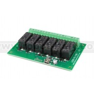 USB-RLY06 - 6 x 16A USB relay