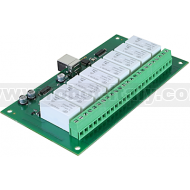 USB-RLY16L - 16Amp, 8 Channel Relay Module