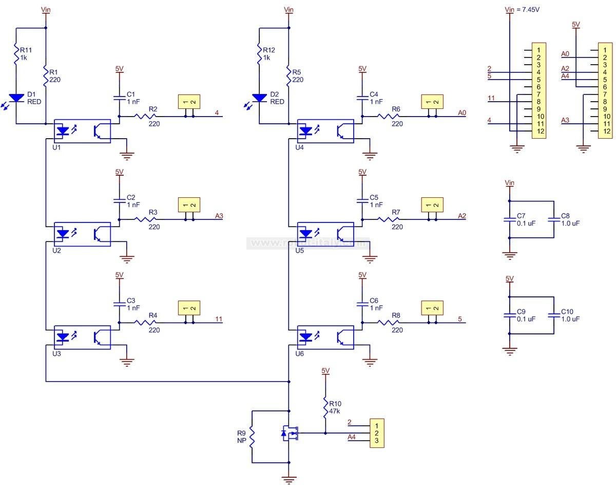 1419 Zumo Reflectance Sensor Array From Pololu For 795 Analoglinefollowercircuitjpg 341419