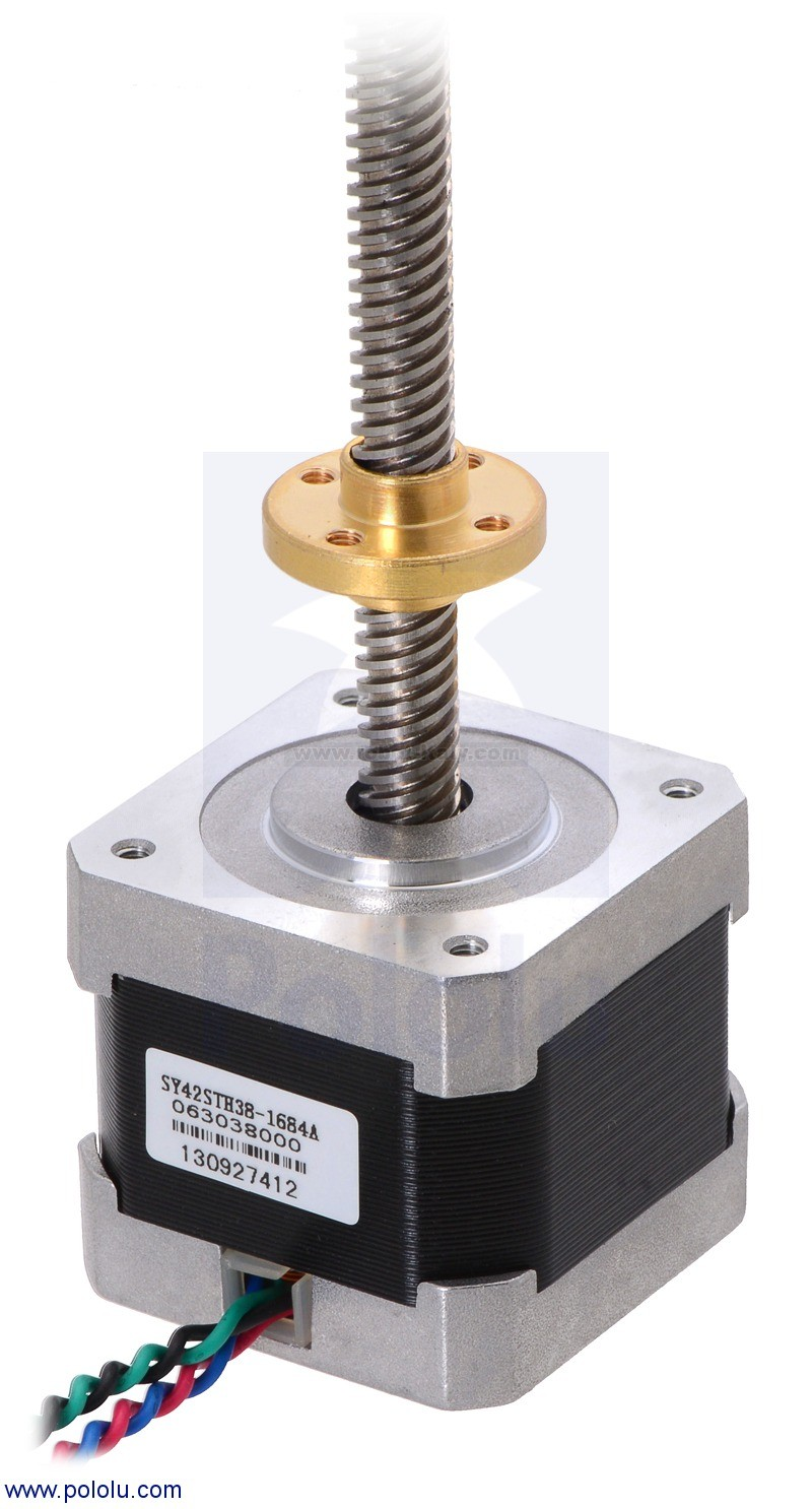 Stepper motor with 28cm lead screw bipolar 200 steps rev for J and b motors