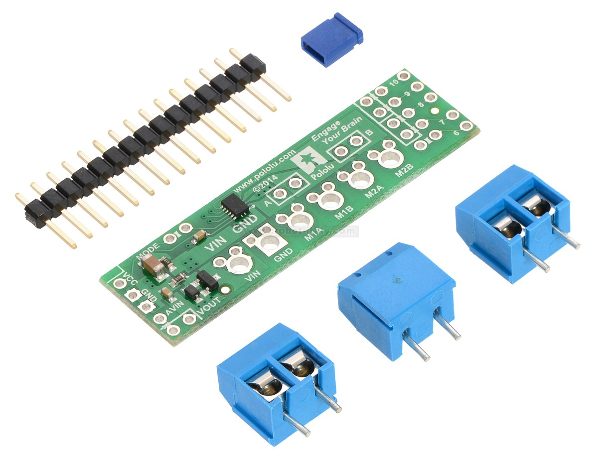 Pololu drv dual motor driver shield for arduino