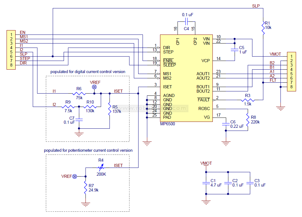 2966 - MP6500 Stepper Motor Driver Carrier, Potentiometer