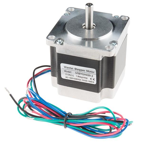 Stepper motor 125 200 steps rev 600mm wire for Threaded shaft stepper motor