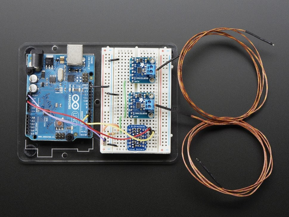 Thermocouple Amplifier with 1-Wire Breakout Board
