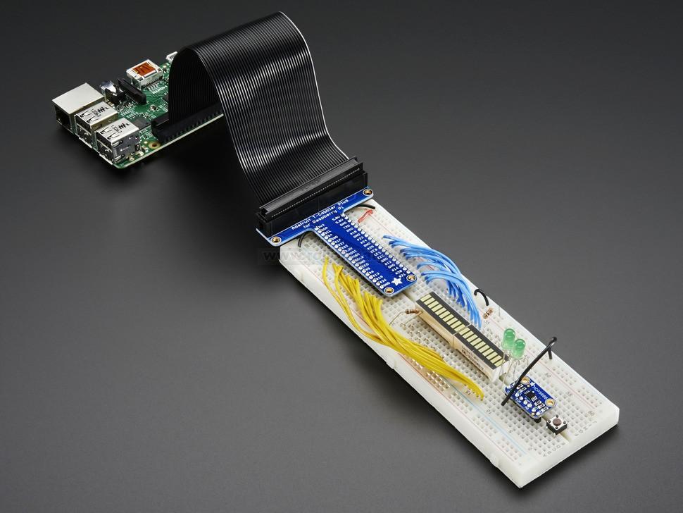 Adafruit Pi T Cobbler Plus Kit Breakout For Raspberry Pi