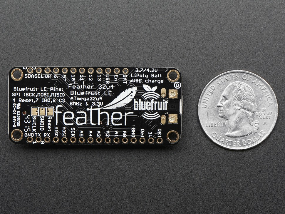 Adafruit Feather 32u4 Bluefruit LE , from Adafruit for €31 84