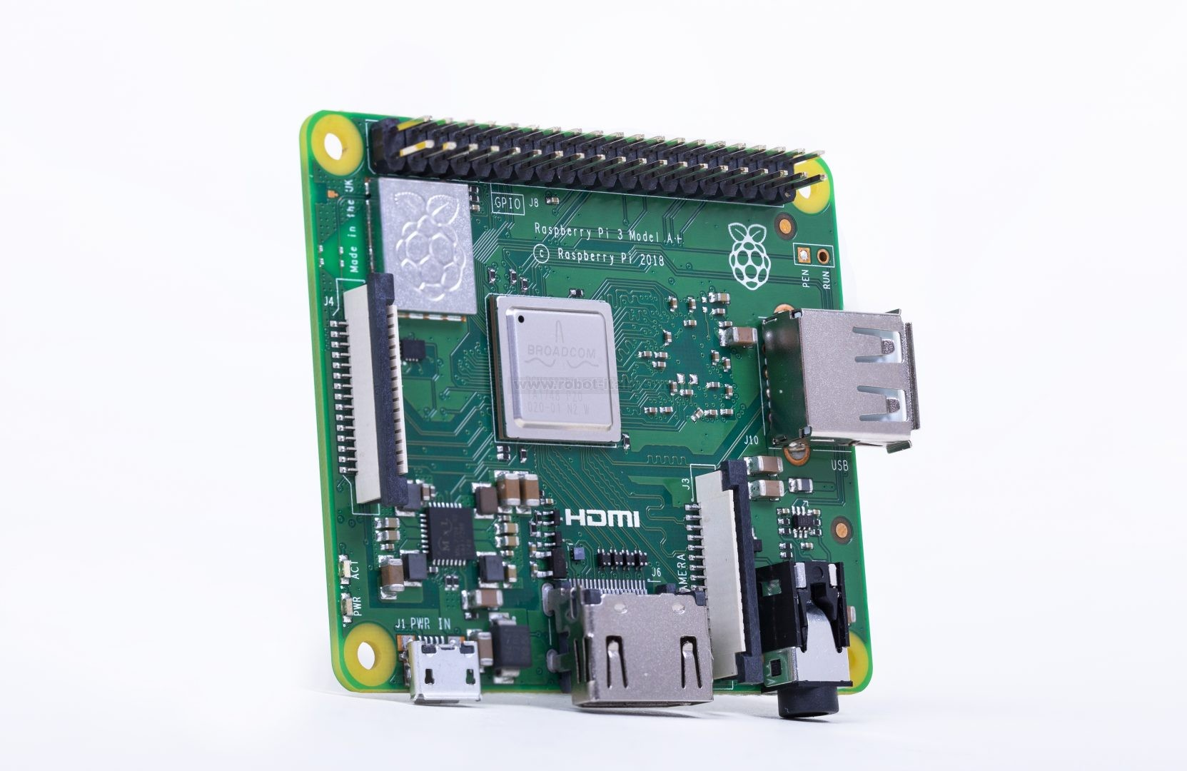Raspberry Pi 3 Model A+- 1 4GHz 64-bit quad-core processor