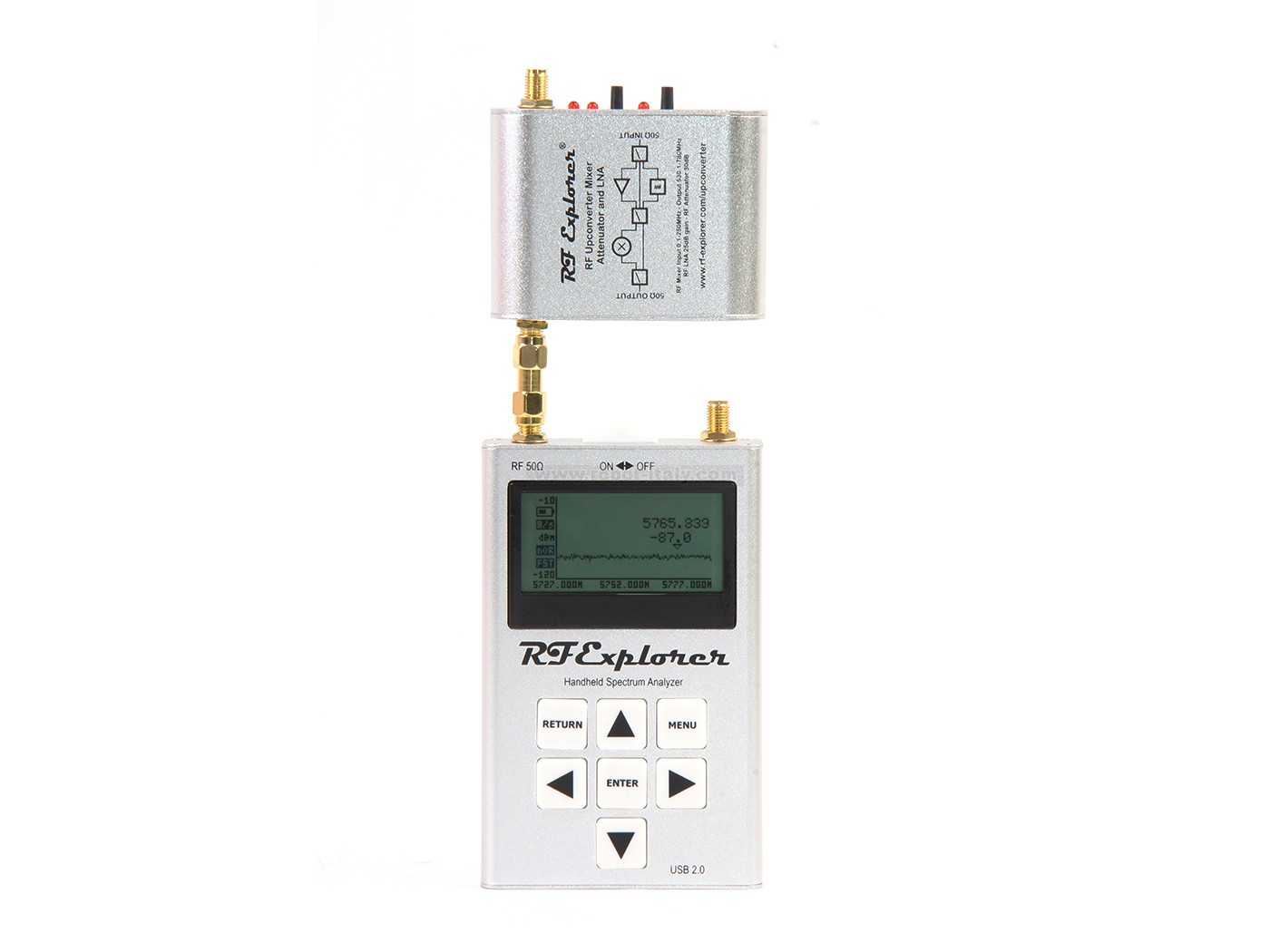 Rf Explorer Upconverter From Seeed Studio For 9970 Multi Measurement Signal Analyzer Is A High Performance Frequency Mixer To Enable Input Ranges 100khz 250mhz In Spectrum And