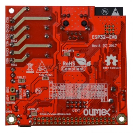 ESP32-EVB DEVELOPMENT BOARD WITH WIFI BLE ETHERNET , from Olimex for
