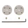 1996 - Pololu Universal Aluminum Mounting Hub for 3mm Shaft, M3 Holes (2-Pack)
