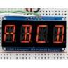 "Quad Alphanumeric Display - Red 0.54"" Digits w/ I2C Backpack"