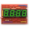 7 Segment led display - 4 digits - CA - kelly green