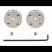 1996 - Pololu Universal Aluminum Mounting Hub for 3mm Shaft, M3 Holes (2-Pack)