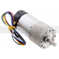 2828 - 150:1 Metal Gearmotor 37Dx73L mm 12V with 64 CPR Encoder (Helical Pinion)