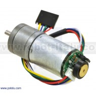 99:1 Metal Gearmotor 25Dx54L mm HP 6V with 48 CPR Encoder
