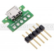 USB Micro-B Connector Breakout Board
