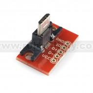 USB MicroB Plug Breakout Board