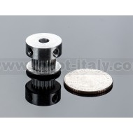 Aluminum GT2 Timing Pulley - 6mm Belt - 20 Tooth - 5mm Bore -