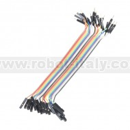 Jumper Wires - Connected 6'' (M/F, 20 pack)