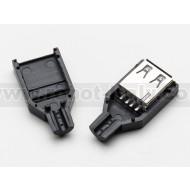USB DIY Connector Shell - Type A Socket