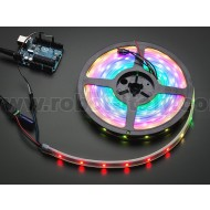 Adafruit NeoPixel Digital RGB LED Strip - Black 30 LED - BLACK 4 Metri