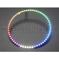 NeoPixel 1/4 60 Ring - 5050 RGBW LED w/ Integrated Drivers - Warm White - ~3000K