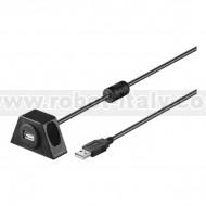 Prolunga USB 2.0 da tavolo fissabile con viti, 200cm