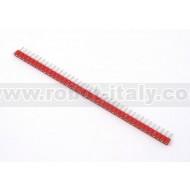 Strip Femmina Tornito Passo 2,54  - 40 pin - Rosso