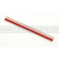 Strip Maschio Passo 2,54 a 90° - 40 pin - Rosso