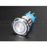 Rugged Metal Pushbutton - 19mm 6V RGB Momentary