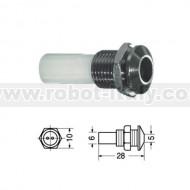 PORTA-LED 5mm da pannello - Metallo