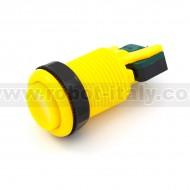"""Pulsante """"arcade"""" 3.5cm concavo - giallo"""