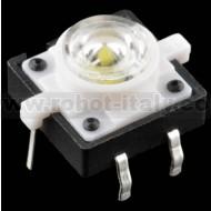 Pulsante da PCB con led incorporato - colore BIANCO