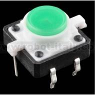 Pulsante da PCB con led incorporato - colore VERDE
