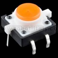 Pulsante da PCB con led incorporato - colore ARANCIO
